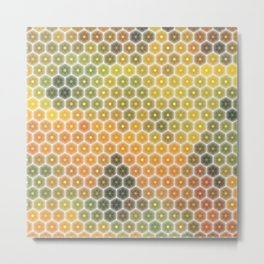 Abstract mosaic geometric colorful background Metal Print