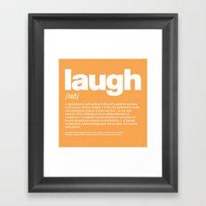 definition LLL - Laugh Framed Art Print