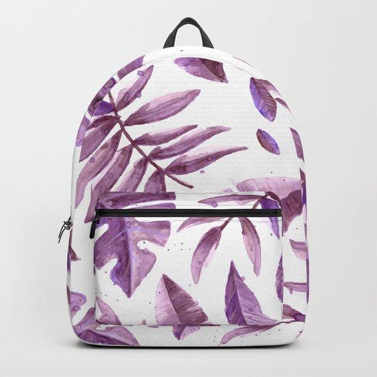 Purple Fern Leaves  #cadineradesign Backpack