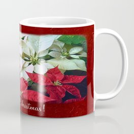 Mixed color Poinsettias 1 Merry Christmas P5F1 Coffee Mug