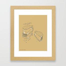 Exploded Ice Cream Sandwich Framed Art Print