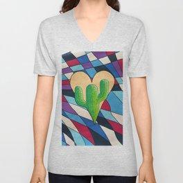 Cactus Heart Unisex V-Neck