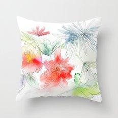 My flowers garden Throw Pillow