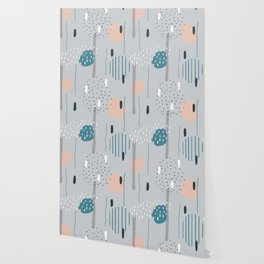 Geometric Abstract Doodling Pastel Colors Wallpaper