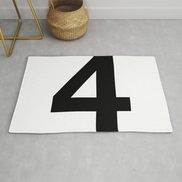 Number 4 (Black & White) Rug