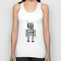 robot Tank Tops featuring Robot by Alma Charry