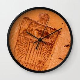 Great Gallery Pictograph Close-up Canyonlands National Park - Utah Wall Clock