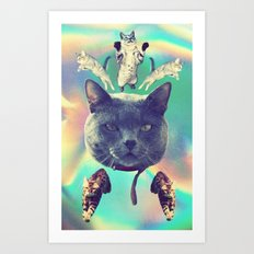 galactic Cats Saga 3 Art Print
