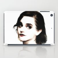 emma watson iPad Cases featuring EMMA by André Joseph Martin