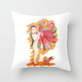 Feather Fan Throw Pillow