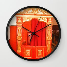 CONFESSIONAL Wall Clock