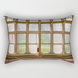 Window of an orangery Rectangular Pillow