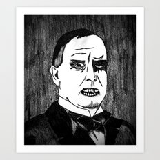 25. Zombie William McKinley  Art Print
