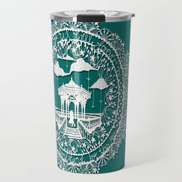 Seaside Bandstand Hand-Cut Papercut Travel Mug