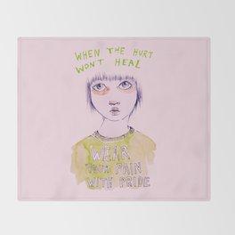 When the hurt wont heal Throw Blanket