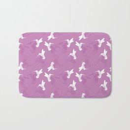 Humming Bird Pink Bath Mat