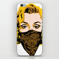 gangster iPhone & iPod Skins featuring Gangster Lady by UrbanCandy