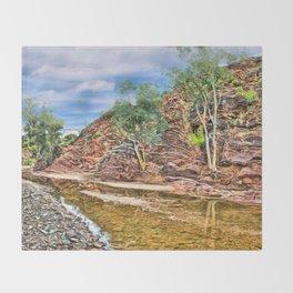 Rocks at Brachina Gorge, Flinders Ranges, Sth Australia Throw Blanket