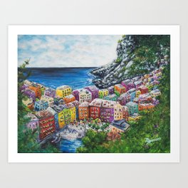 Cosy Cove from Cinque Terre, Italia Art Print