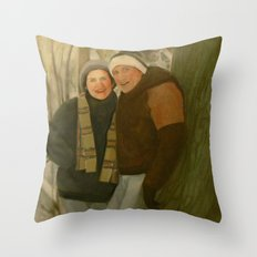 Shirley and Ken Throw Pillow