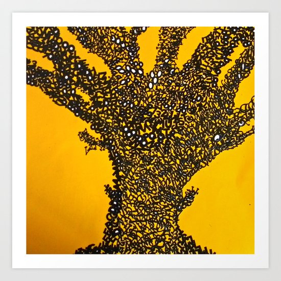 Alphabet Tree Art Print