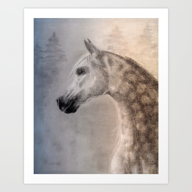 Arabian Horse Art Print Art Print By Twofriendsgallery Society6