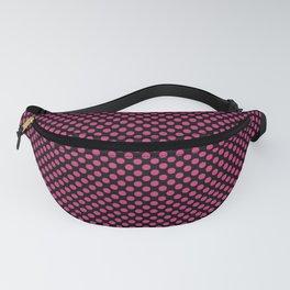 Black and Pink Yarrow Polka Dots Fanny Pack