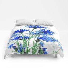 blue cornflower Comforters