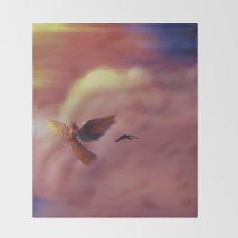 Into the Headwinds Throw Blanket