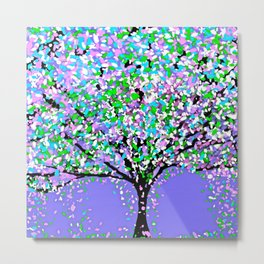 Trees Purple Metal Print