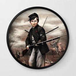 Union Drummer Boy John Clem Wall Clock