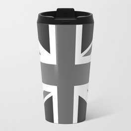 UK Flag, High Quality in grayscale Travel Mug