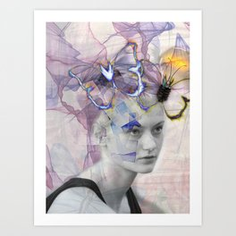 Okra Art Print