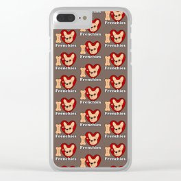 I Love Frenchies design for all the Frenchie Lovers Clear iPhone Case
