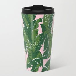 Leaves Baninque in Pink Conch Travel Mug