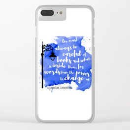 WORDS HAVE THE POWER TO CHANGE US | CASSANDRA CLARE Clear iPhone Case