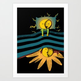 Time In Bed Art Print