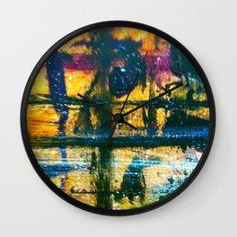 Easel Abstract 10 Wall Clock