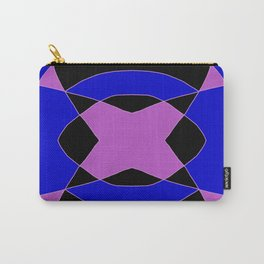 Abstract Purple Blue Pink Black Church Window Carry-All Pouch