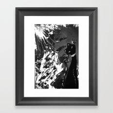 Black Cat Storm Framed Art Print