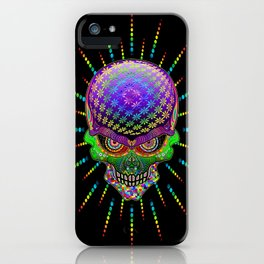 Crazy Skull Psychedelic Explosion iPhone Case