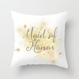Shining Maid of Honor Throw Pillow