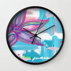 Easter Flower Wall Clock