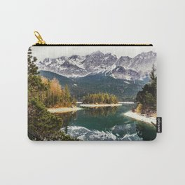 Green Blue Lake, Trees and Mountains Carry-All Pouch