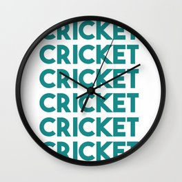 Cricket lover sports Wall Clock