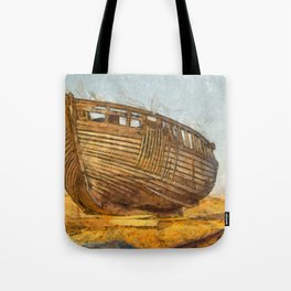 Painted Boat Dungeness Tote Bag