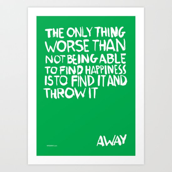 ...Away (Vers. 2) Art Print