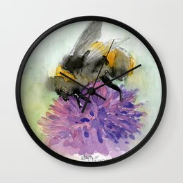 Watercolor Bee 7 Wall Clock