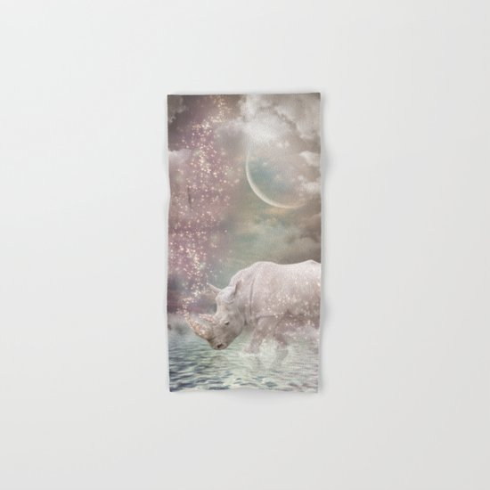 The Most Beautiful Have Known Defeat, Suffering, Struggle... (Rhino Dreams)  Hand & Bath Towel