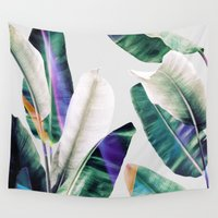 tropical Wall Tapestries featuring tropical #1 by LEEMO